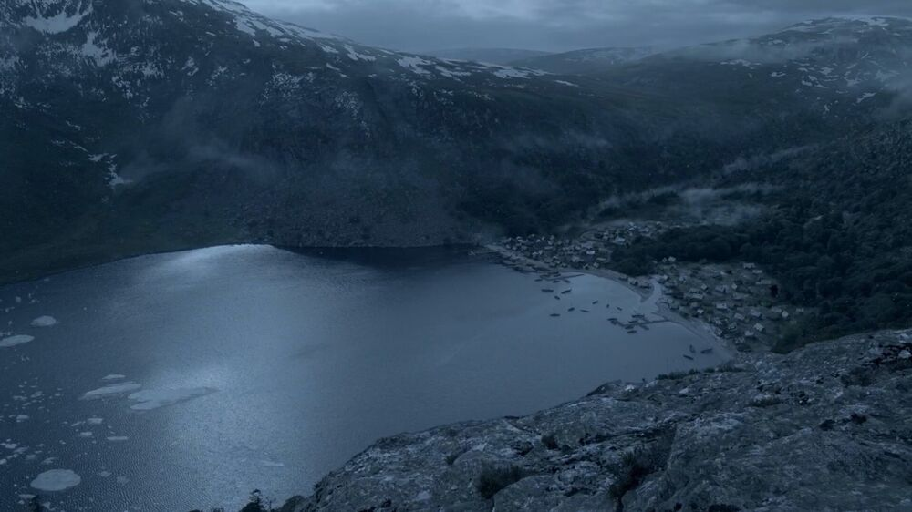 Kattegat desde la vista de las montañas