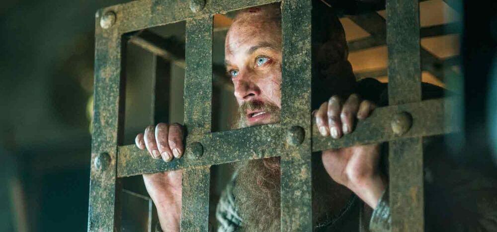 Ragnar encarcelado en Wessex.